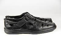 Летние мужские туфли из натуральной кожи на липучке ВОЛ 27 черн