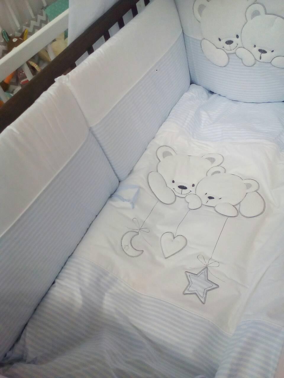 """Змінна постіль Tuttolina """"Cuddle Bears """"24 (полоска)"""