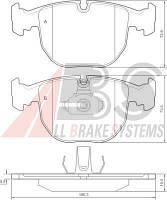 Колодки тормозные BMW 5 ser./7 ser./X5 передние (ABS). 36961