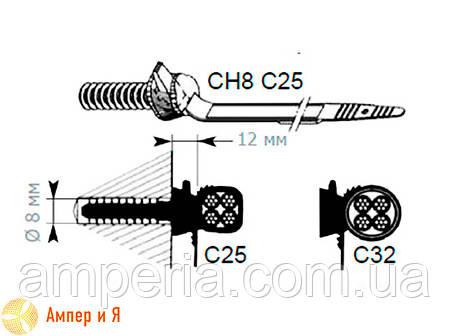 Фасадный кронштейн CH8C32 d 10-32 SICAME, фото 2