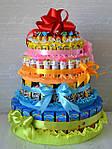 Букети та торти з цукерок на випускний вечір