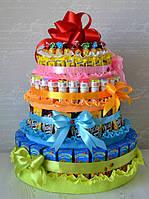 Букеты и торты из конфет на выпускной вечер