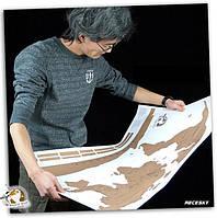 Настенная Скретч карта мира в подарочном тубусе (English)