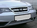 Декоративно-защитная сетка радиатора Daewoo Nexia фальшрадиаторная решетка, бампер, фото 2