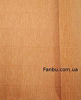"""Креп бумага,цвет""""оранжевая тыква"""" №610 ( рул 2.5м*0.5м)"""
