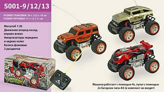 Радіокерований автомобіль батар. 5001-9/12/13 3 вида, в коробці 29*13,5*16 см