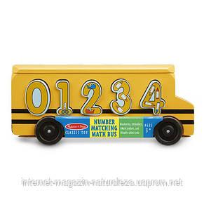 Дерев'яний шкільний автобус-сортер Рахунок Melissa&Doug, фото 2