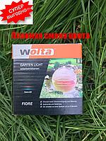 Садовый светильник на солнечной батарее подвесной шар RGB, фото 1