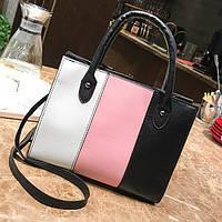 Модная женская сумка со стильными вставками, цвета в наличии, фото 1