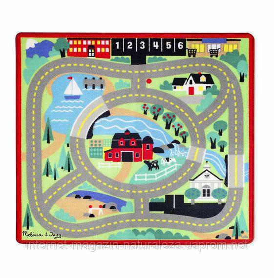 Игровой коврик с машинками Городская дорога Melissa&Doug