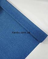 "Креп бумага,цвет""китайский синий фарфор"" №615 ( рул 2.5м*0.5м)"