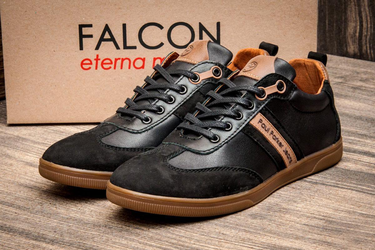 Туфли мужские Falcon Paul Parker Jeans, черные (2874),  [   40 42  ]