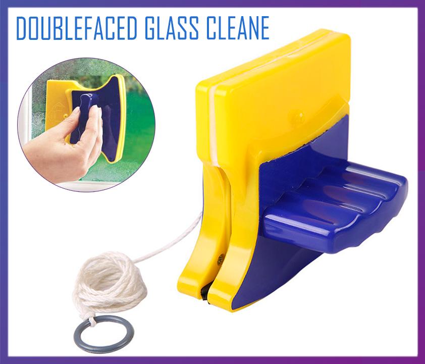 Магнитная щетка для двухстороннего мытья стекол Doublefaced Glass Cleane