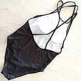 Женский купальник слитный с геометрическим принтом, фото 3