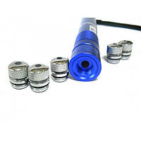 Гипер-мощный синий лазер YX-B008 10000 mW + 5 насадок
