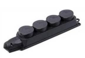 Розетка (колодка) четырехместная с защитными крышками ОМЕГА IP44