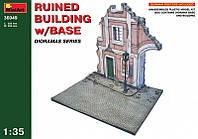 1:35 Разрушенный дом с основанием, MiniArt 36049
