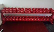 Гантельный ряд от 12 до 30 кг. Со стойкой в комплекте., фото 3