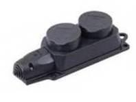 Розетка (колодка) двухместная с защитными крышками ОМЕГА IP44