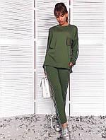 Повседневный костюм цвета хаки , фото 1