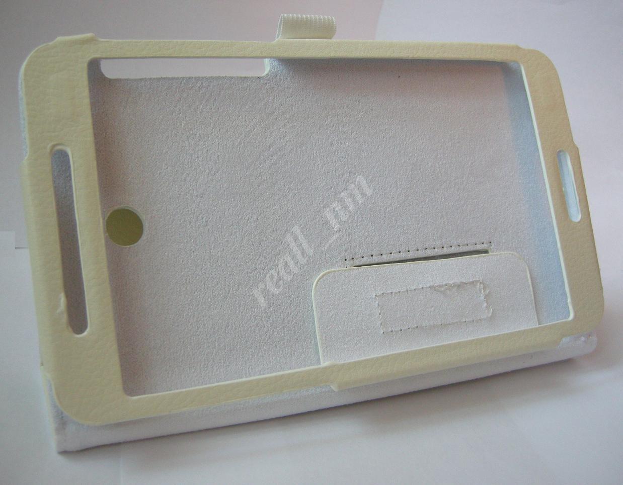 Белый кожаный чехол-книжка Folio Case для планшета Asus Fonepad 7 FE375CG FE375CXG