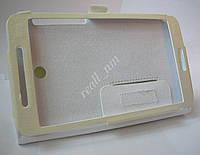 Белый кожаный чехол-книжка Folio Case для планшета Asus Fonepad 7 FE375CG FE375CXG, фото 1