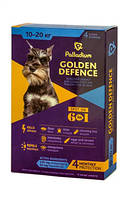 Капли на холку Золотая защита Palladium Палладиум для собак 10-20 кг, 1 пипетка 2 мг
