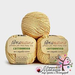 Пряжа Fibranatura Cotton wood Коттон вуд Фибранатура, 41105, желтый