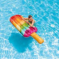 """Надувной плотик, Intex 58766 Плот """"Эскимо"""" 191*76см, Надувной матрас для плавания детей и взрослых"""
