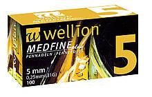 Иглы для шприц ручек универсальные Wellion MEDFINE plus 31G(0.25*5mm)