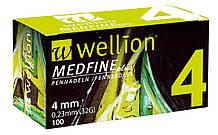 Иглы для шприц ручек универсальные Wellion MEDFINE plus 32G(0.23*4mm)