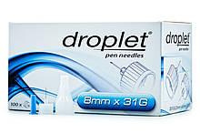 Иглы для шприц ручек универсальные Droplet 31G(0.25*8mm)