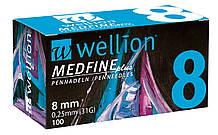 Иглы для шприц ручек универсальные Wellion MEDFINE plus 31G(0.25*8mm)