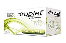 Иглы для шприц ручек универсальные Droplet 32G (0.23*4mm ) №100