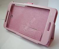 Розовый кожаный чехол-книжка Folio Case для планшета Asus Fonepad 7 FE375CG FE375CXG, фото 1