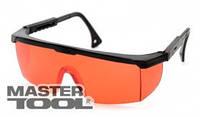 MasterTool Очки защитные красные для лазера с регулируемыми дужками MasterTool 82-0605