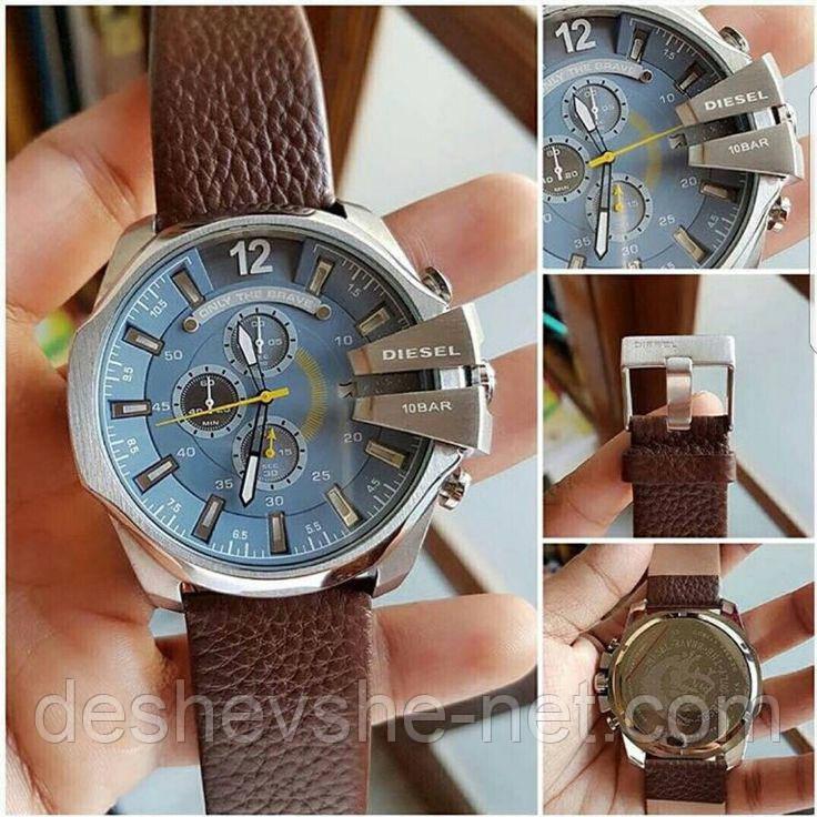 Мужские элитные кварцевые часы Diesel 10 Bar, Дизель