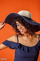 Двухцветная соломенная шляпа
