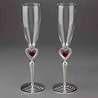 Свадебные бокалы Пылающие сердца 027G
