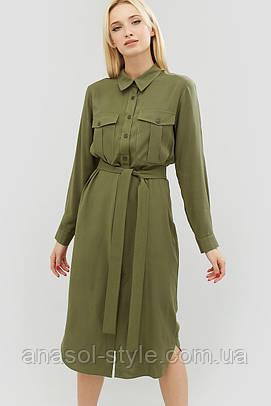 """Платье """"KEREL"""" оливковый весна"""