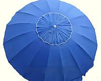 Зонт торговый пляжный содовый. 3,5m.16 спиц с клапаном .с серебряным покрытием
