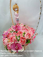 """Букет из конфет """"Фея в розовом""""№21"""