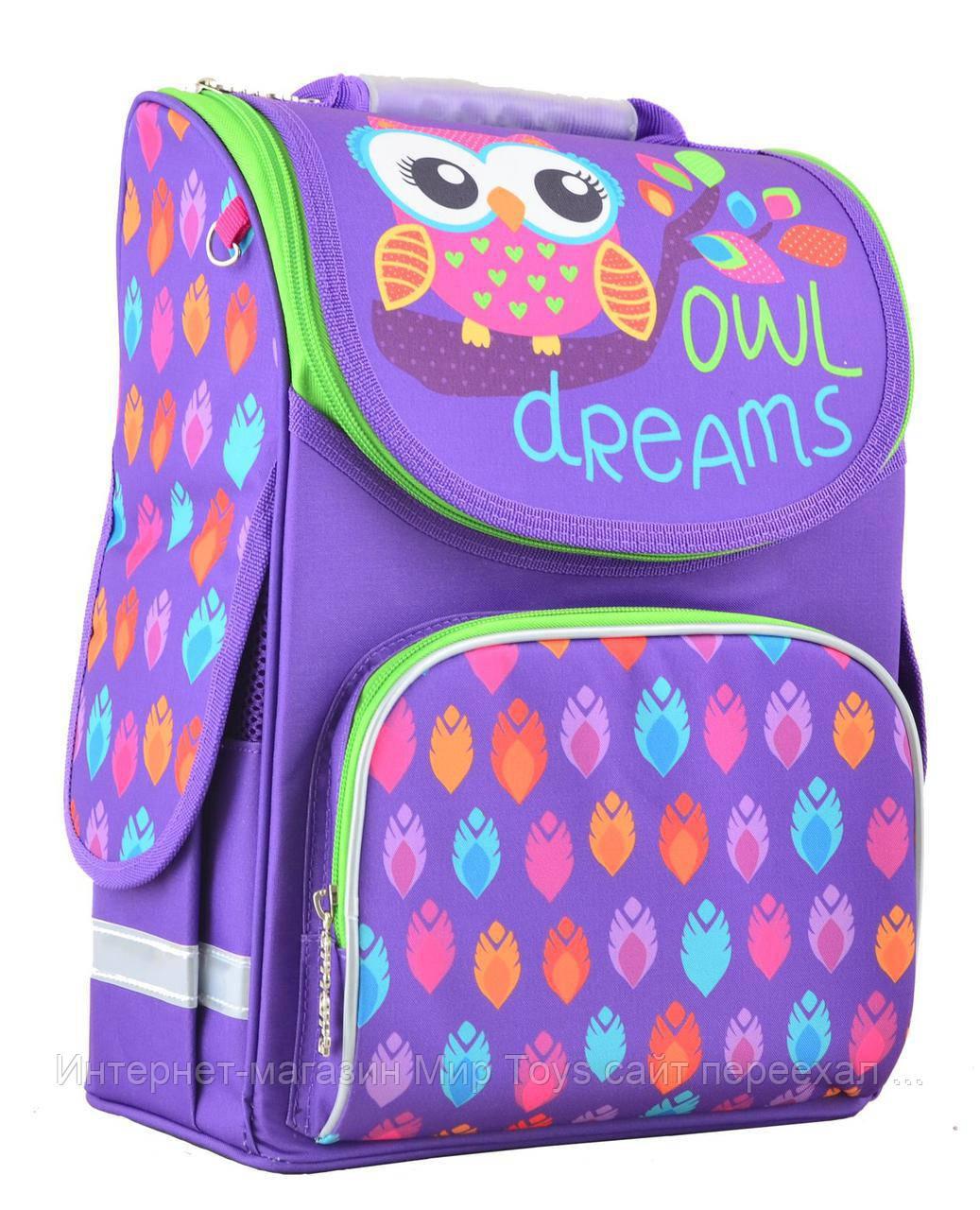 fe645113cc78 Рюкзак школьный каркасный 1 вересня Smart PG-11 Owl 554458 -  Интернет-магазин Мир