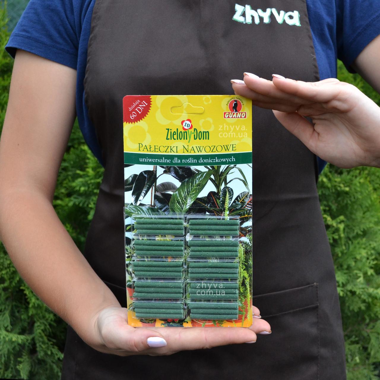 Органічне добриво в паличках Zielony Dom для кімнатних рослин 20шт