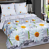 Двуспальное постельное белье Снежана, поплин 100%хлопок