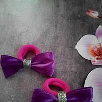 Мини бантик,фиолетовый