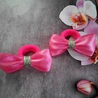 Мини бантик, светло розовый