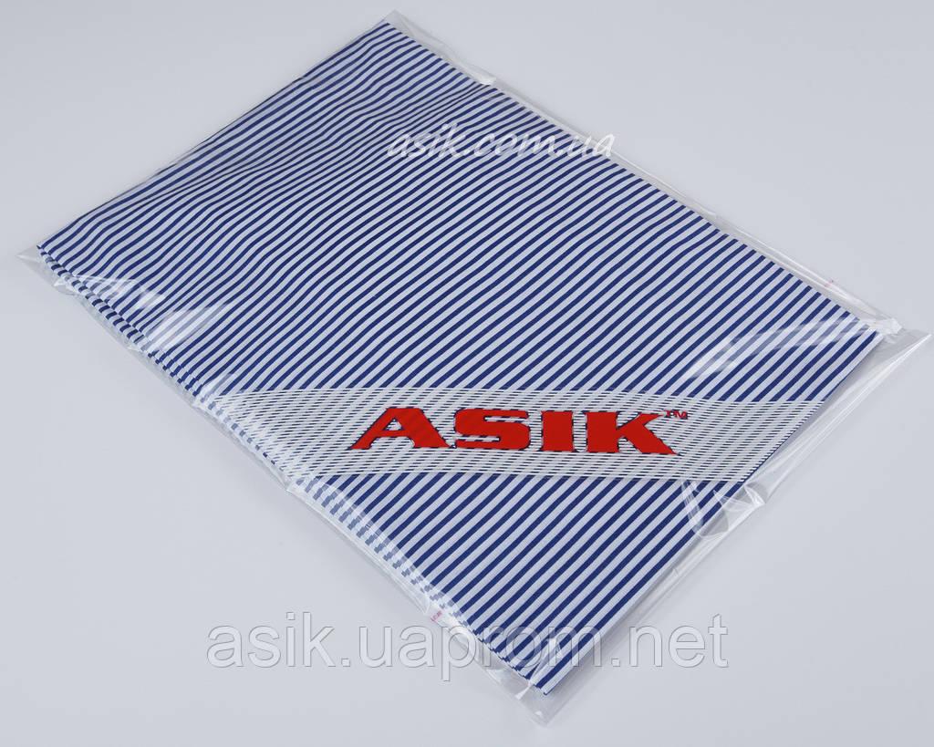 Простынь детская Asik на резинке в сине-белую полосочку (5-030)