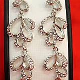 Длинные серьги, камешки Swarovski, фото 2