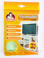 Салфетка из микрофибры для экранов телевизоров и мониторов TM Помощница35х30см